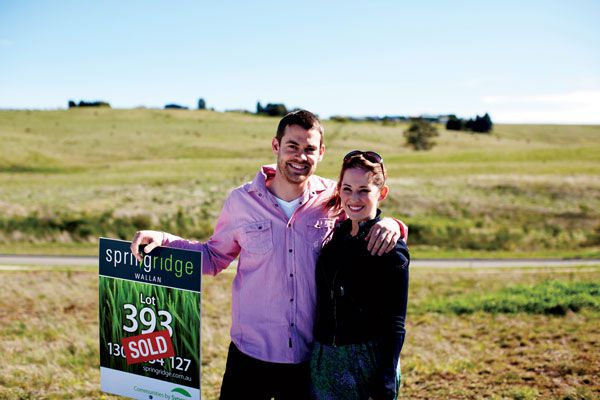 Couple who have bought a land lot in Springridge
